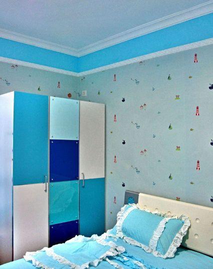 地中海风格儿童房衣柜装饰设计图片