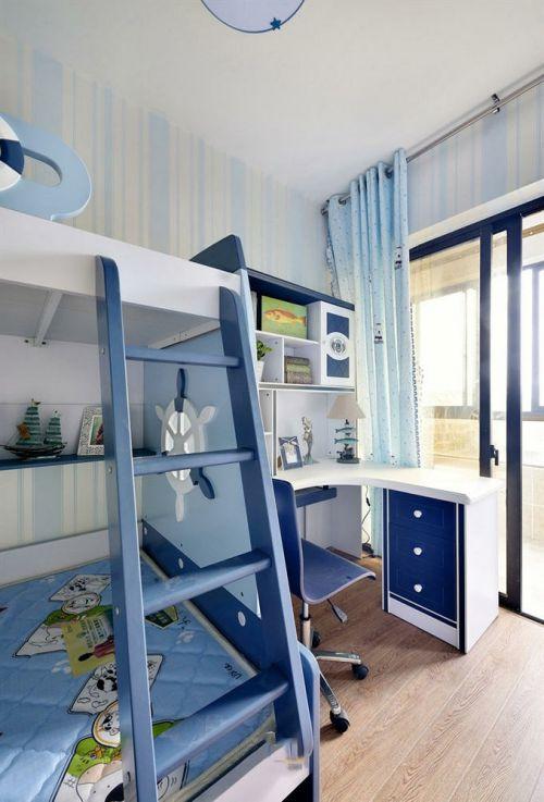 2016浪漫地中海风格蓝色儿童房设计图片