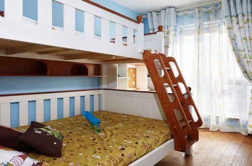 白色温馨地中海风格儿童房装饰设计图片