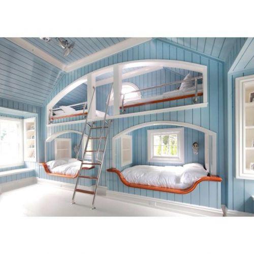 梦幻田园风格蓝色儿童房装潢案例
