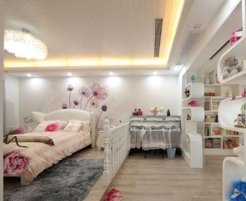 米色温馨混搭风格儿童房装修案例