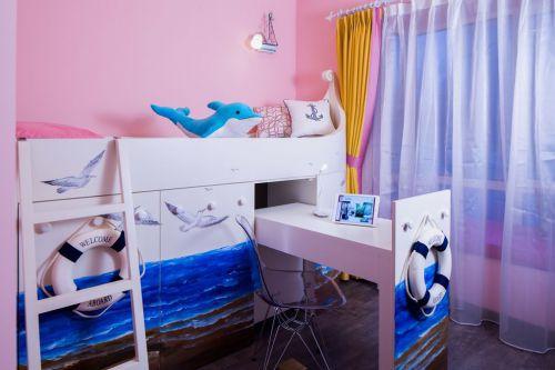 紫色混搭风格儿童房装修图