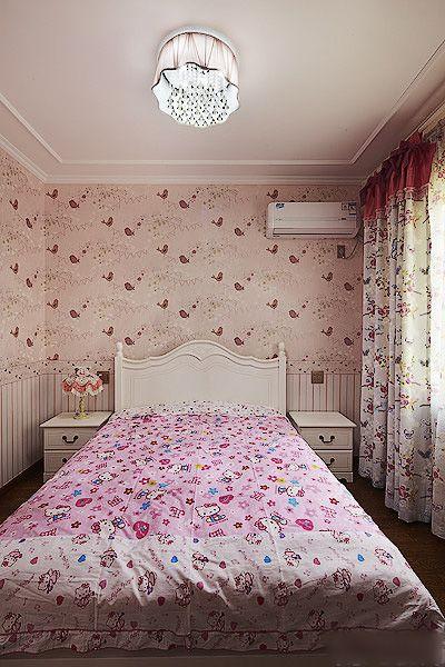 浪漫粉色简欧儿童房设计欣赏