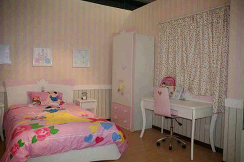 浪漫粉色简欧风格儿童房装潢设计