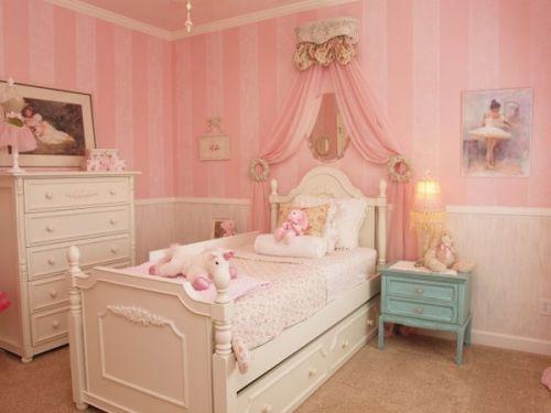 粉色浪漫简欧风格儿童房设计案例