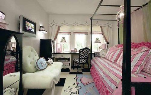 雅致时尚简欧风格儿童房设计
