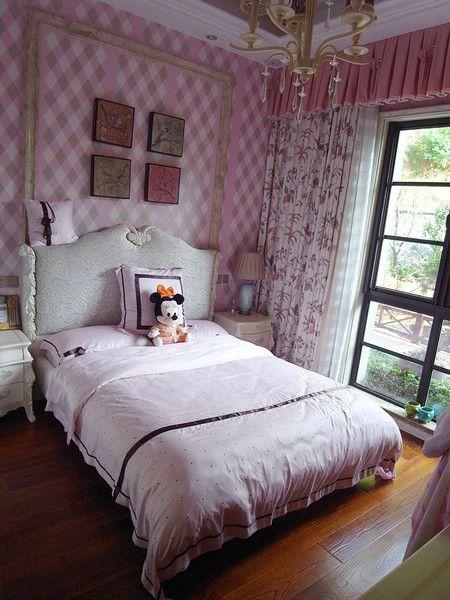 粉色甜美简欧风格儿童房效果图赏析