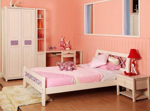 粉色梦幻简欧风格儿童房设计欣赏