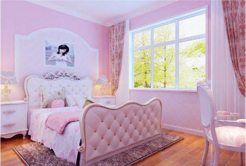 粉色简欧风格儿童公主房装修布置