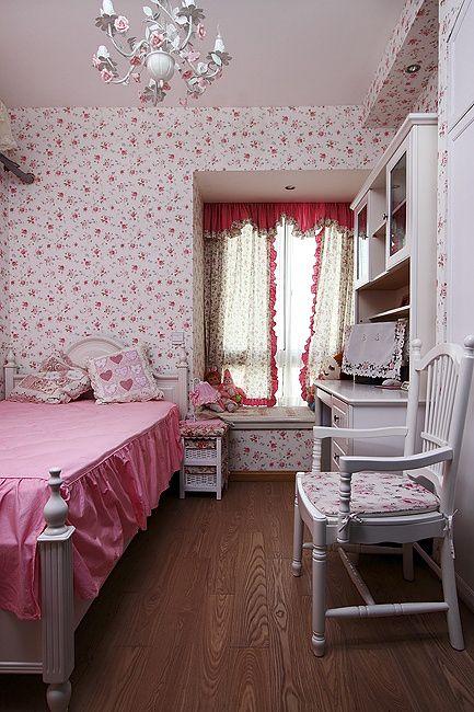 可爱新古典儿童房效果图