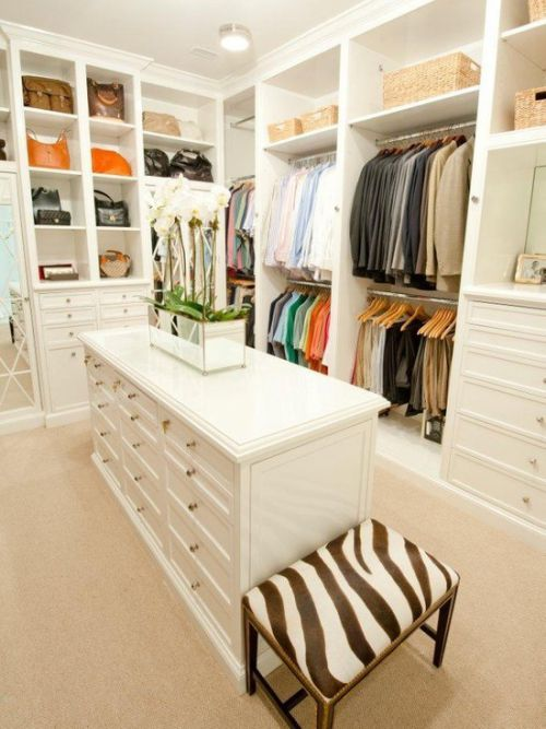 白色混搭风格衣帽间装修案例