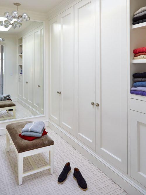 纯白色简欧风格衣帽间装修案例