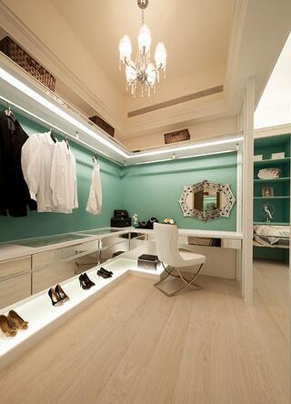 新古典时尚风格衣帽间装修图片欣赏