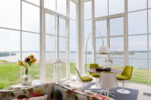 清爽白色美式风格阳台设计装潢