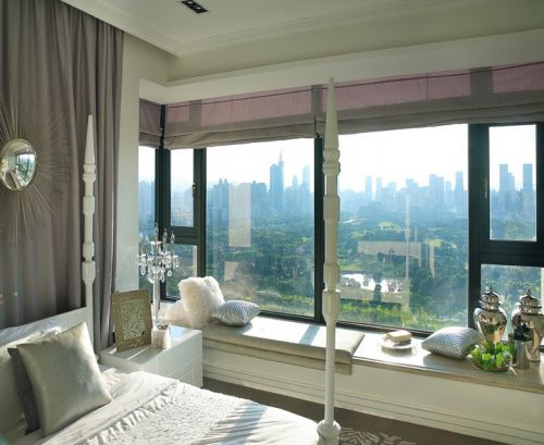 简欧风格白色阳台设计图片