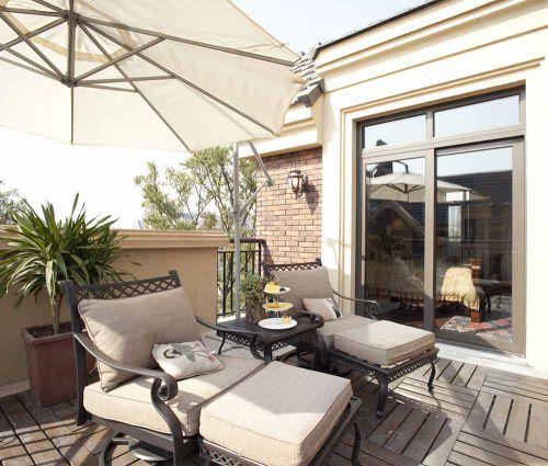 美式休闲度假风阳台装修设计案例