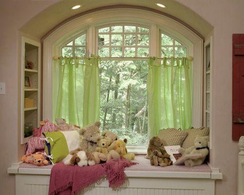 绿色美式阳台飘窗美图欣赏