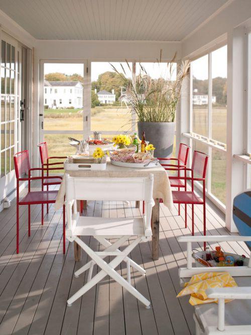 白色时尚混搭阳台设计图