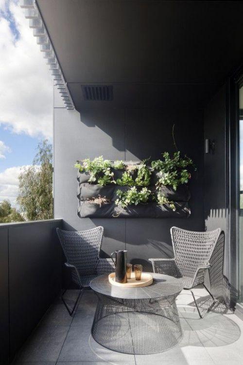 休闲时尚灰色混搭风格阳台效果图
