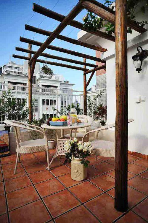 自然简欧风格室外阳台设计展示