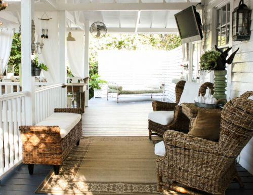 褐色东南亚风格阳台装潢