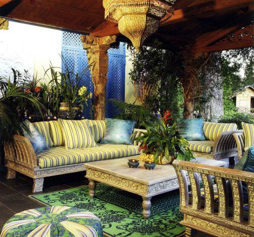 东南亚热带风格时尚唯美自然阳台装修