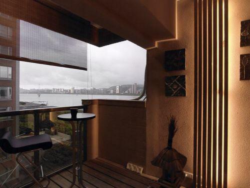 橙色东南亚风格阳台装修设计欣赏