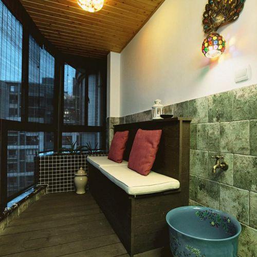 东南亚异域时尚风格米色阳台美图