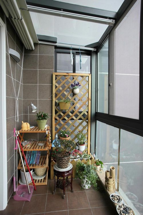 中式元素搭配阳台设计