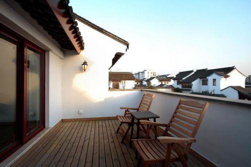 素雅中式休闲阳台设计效果图