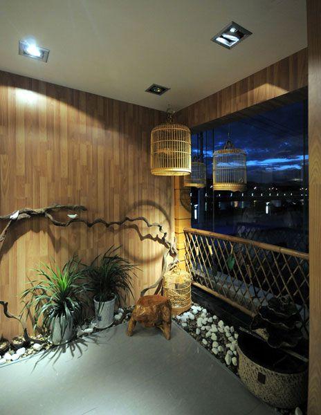 雅致2016中式风格阳台装潢设计