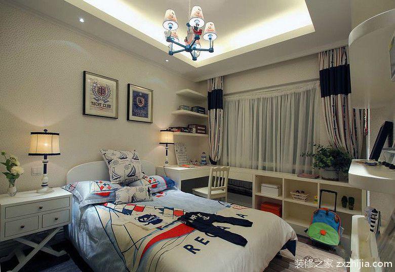 白色個性海邊風歐式兒童房裝修圖片