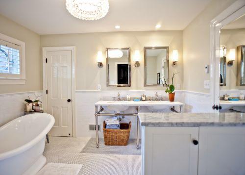 简约风格白色清爽卫生间设计图