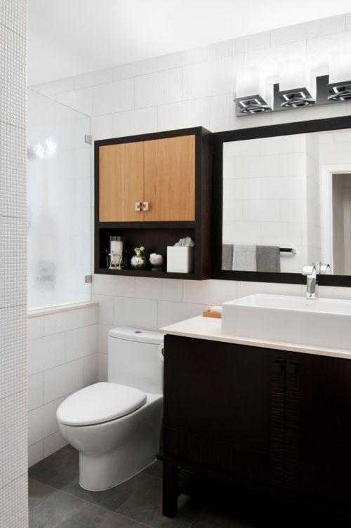 白色个性时尚简约卫生间装修效果图片