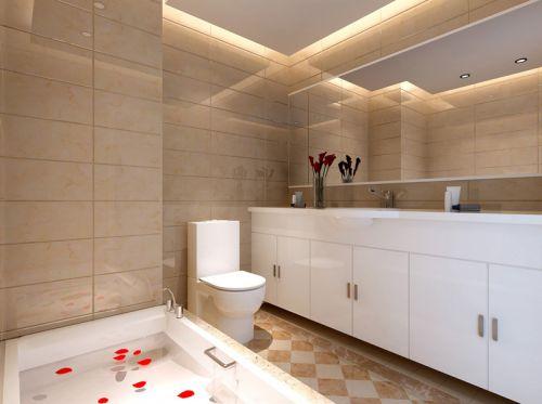 简约清爽浪漫玫瑰风格卫生间装饰设计图片
