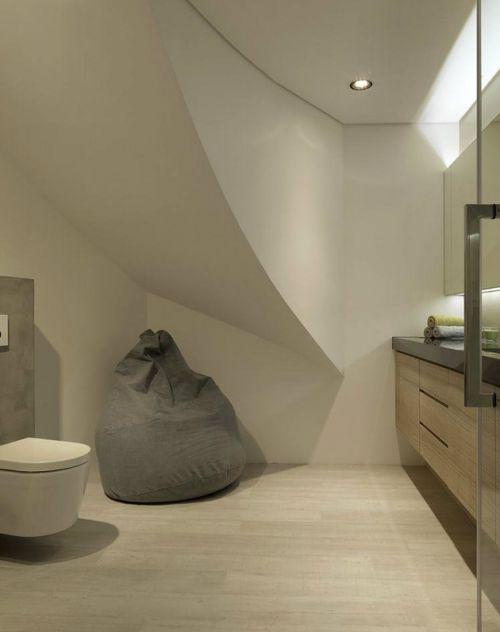 灰色简约卫生间浴室柜设计