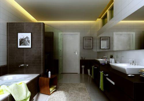 现代风格时尚黑色卫生间设计装潢
