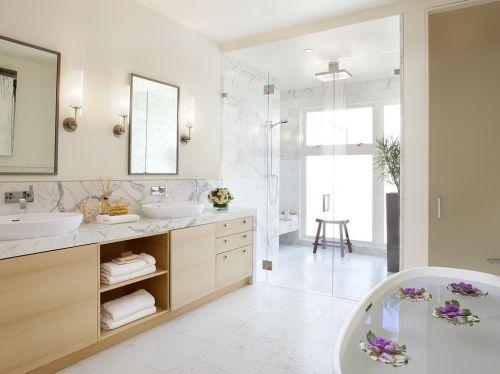 米色现代风格卫生间设计效果图片欣赏