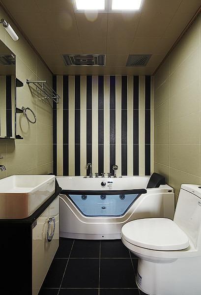 时尚舒适型现代风格米色卫生间设计赏析