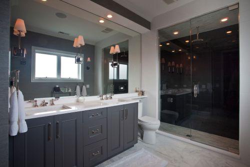 灰色简约风格卫生间装修设计图
