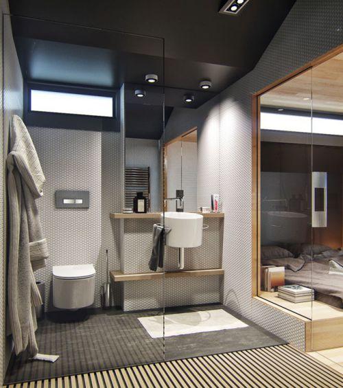 灰色质感简约风格卫生间装修案例