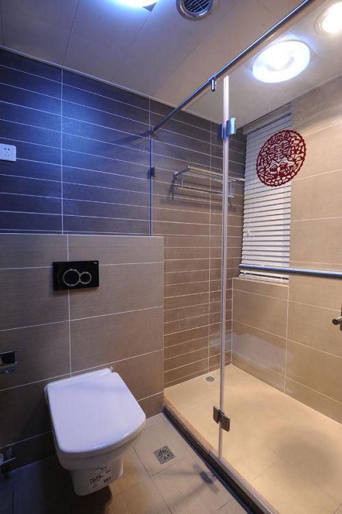 灰色简约风格卫生间装修设计
