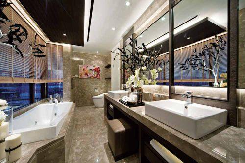 清爽时尚现代风格卫生间装潢设计