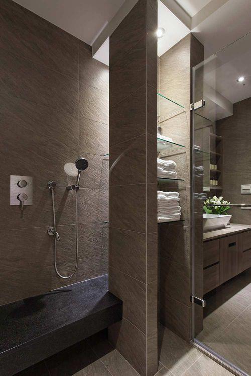 2016清新典雅现代风卫生间装修效果图
