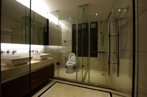 米色温馨现代风格卫生间效果图设计