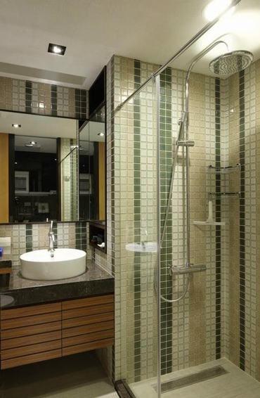 米色现代风格卫生间装饰图欣赏