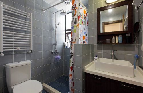 现代风格质感灰色卫生间设计装潢