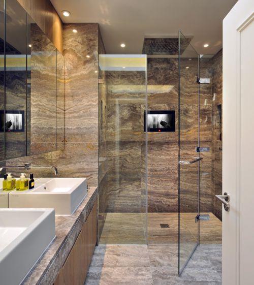 清爽大理石雅致简约现代风格卫生间装修布置