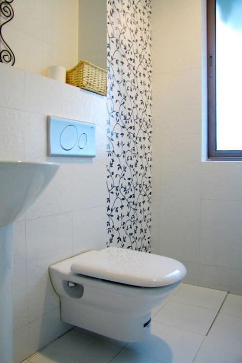 别致时尚清爽现代卫生间装修设计