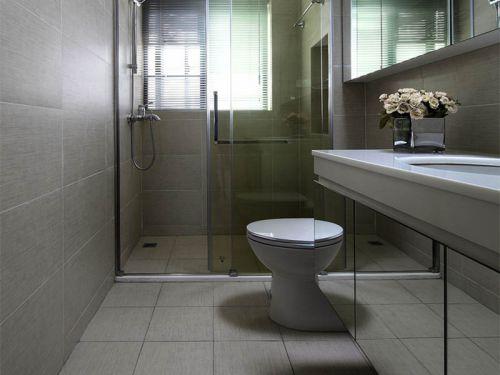 现代简洁卫生间装修案例欣赏